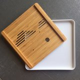 Tea tray - Bamboo wave 250x250 white_
