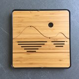 Tea tray - Bamboo wave 250x250 black_