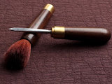 Dual use tea knife & brush - ebony (blackwood)_