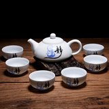 "Tea set for 6 - ""Jing"" little monk_"