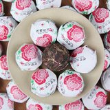 Ripe Pu'er tea with roses tuo_