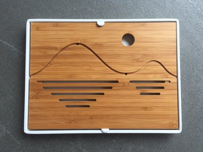Tea tray - Bamboo wave 250x190 white