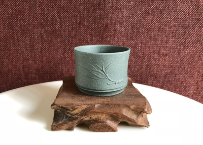 Tea cup - bamboo leaf - Tian Qing 70ml 56x42