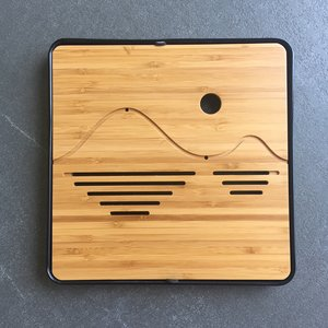 Tea tray - Bamboo wave 250x250 black