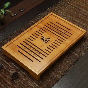 Tea tray - bamboo - Dr. Tea (M) 430x280x52