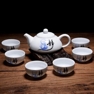 "Tea set for 6 - ""Jing"" little monk"