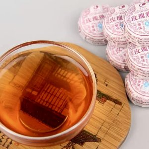 Ripe Pu'er tea with roses tuo
